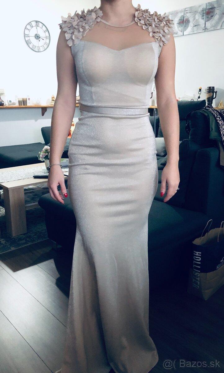 Spoločenské šaty veľkosť 36 - Obrázok č. 1
