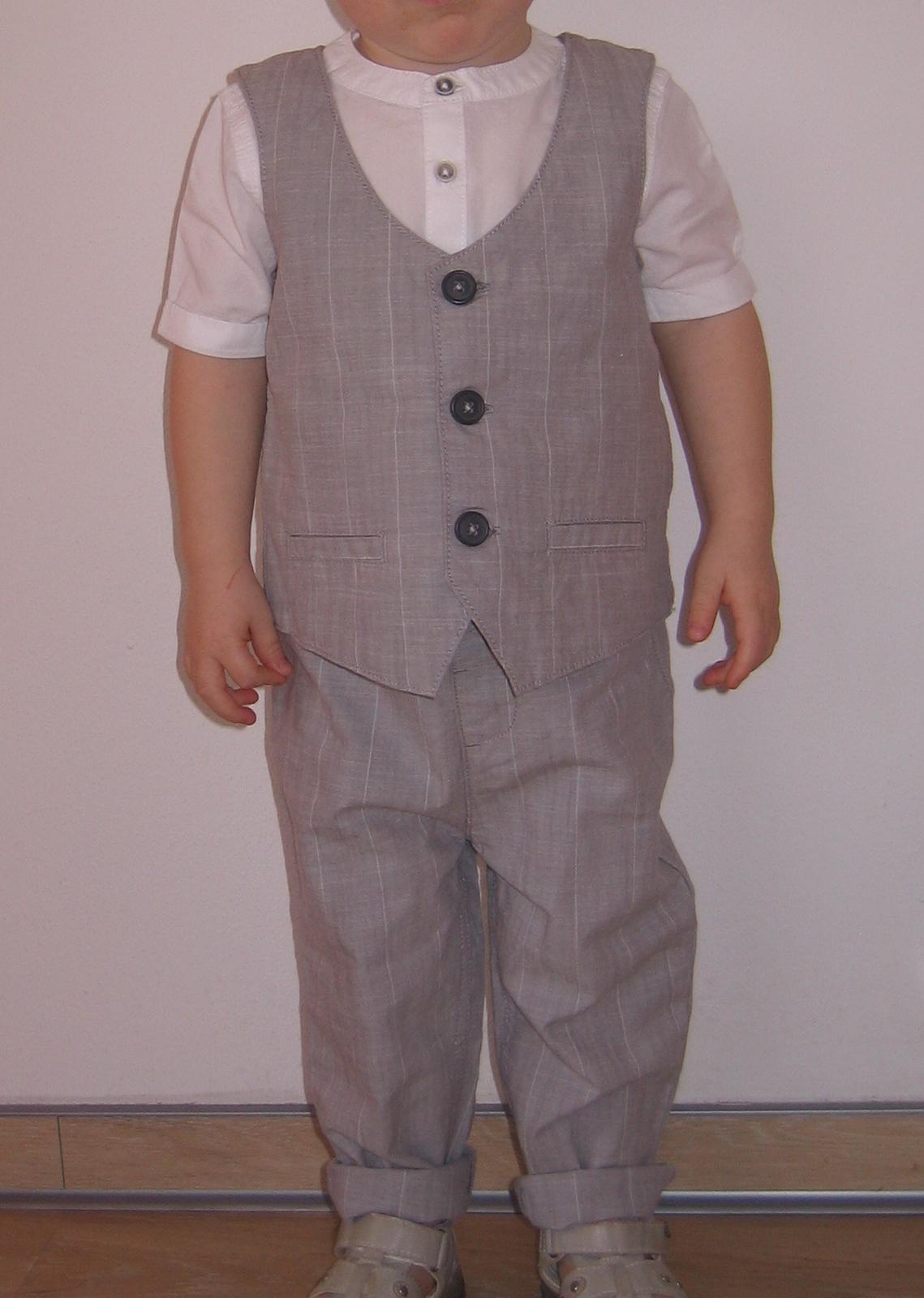 Chlapecký oblek - kalhoty, vesta, košile - Obrázek č. 1