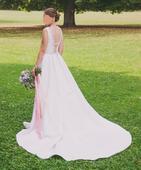 Saténové svadobné šaty Rosa Clara Orbe, 36/38, 38