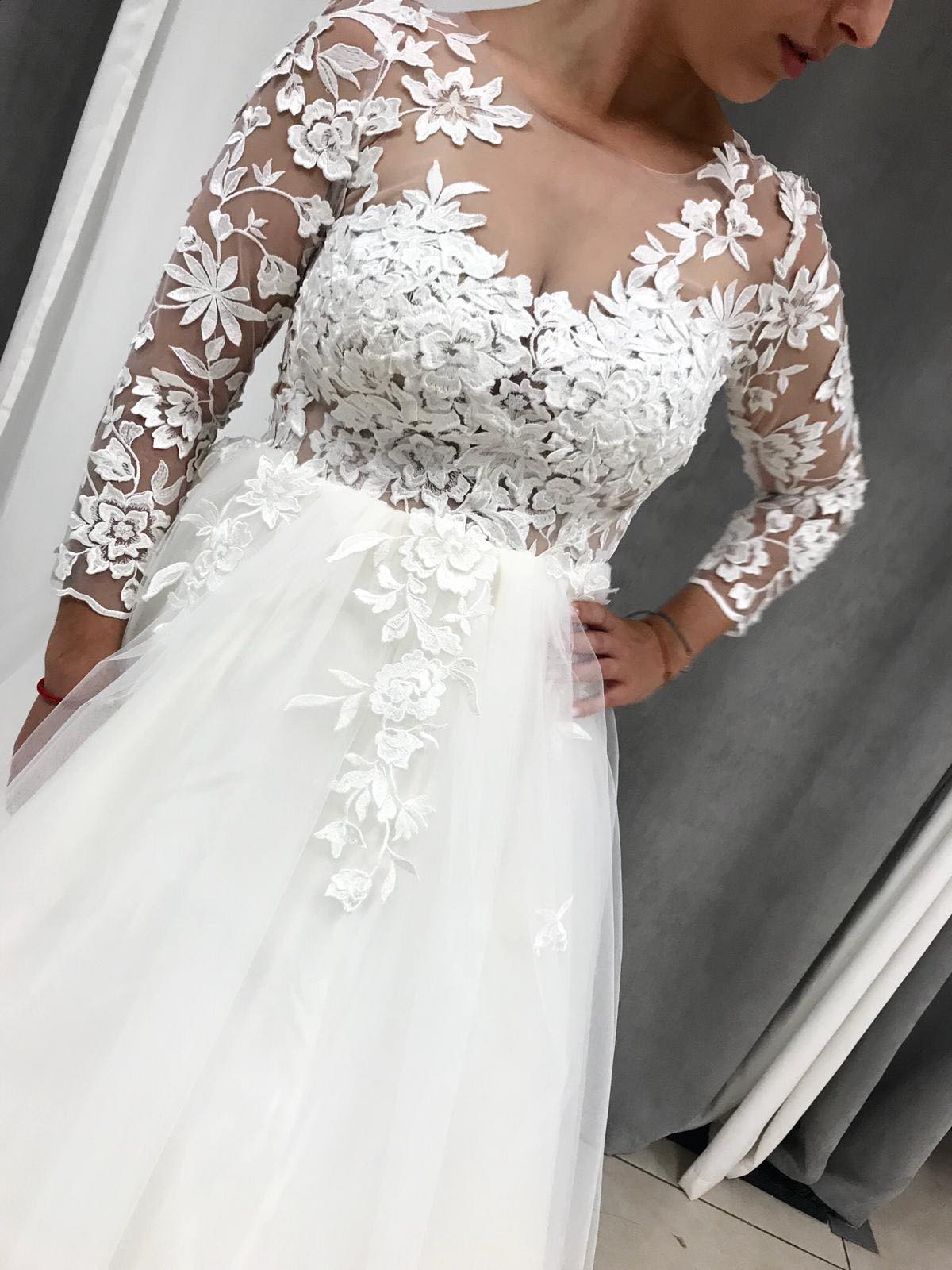 Svadobné šaty s 3D čipkou - Obrázok č. 3