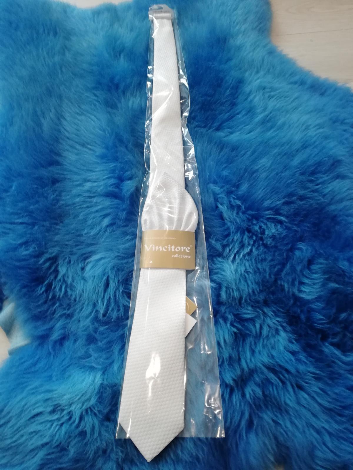 Žakárová svadobná kravata - Obrázok č. 1