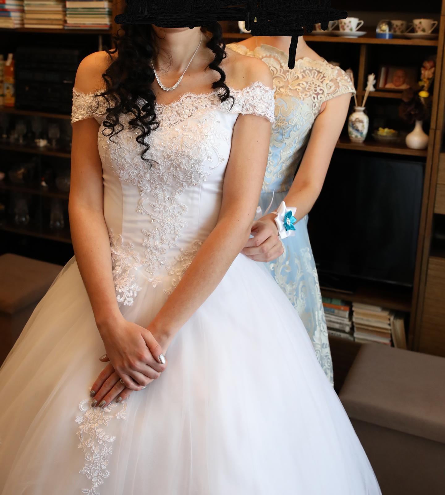 Svadobné šaty princeznovské 34-36 - Obrázok č. 3