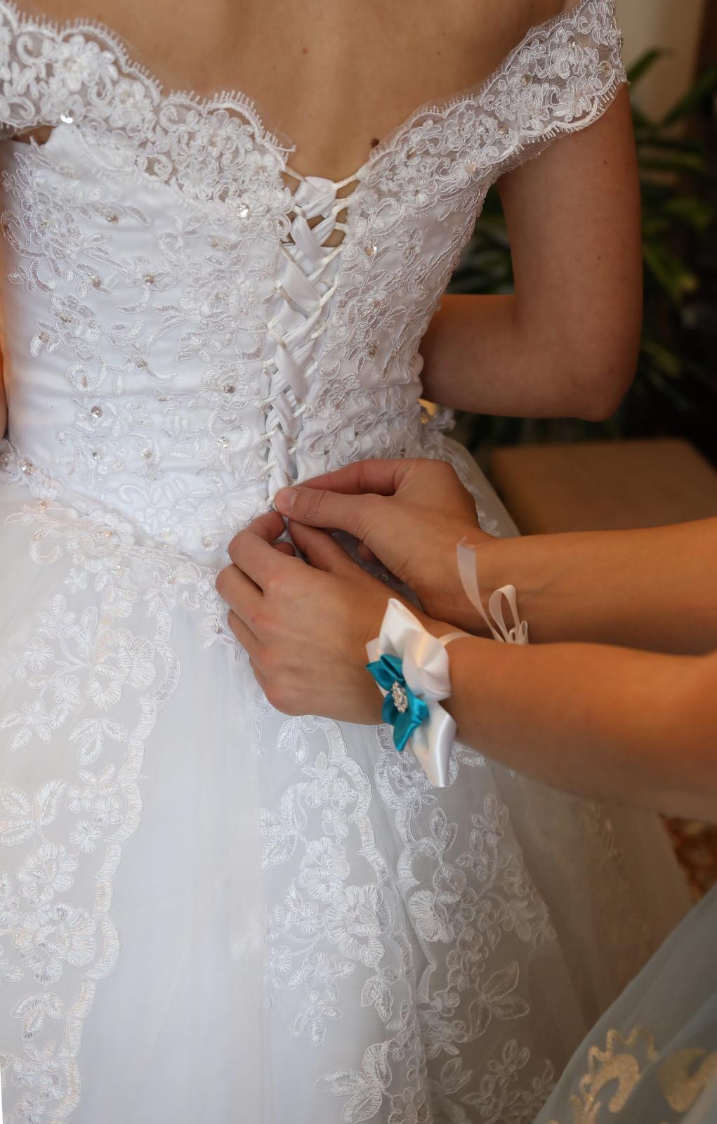 Svadobné šaty princeznovské 34-36 - Obrázok č. 4