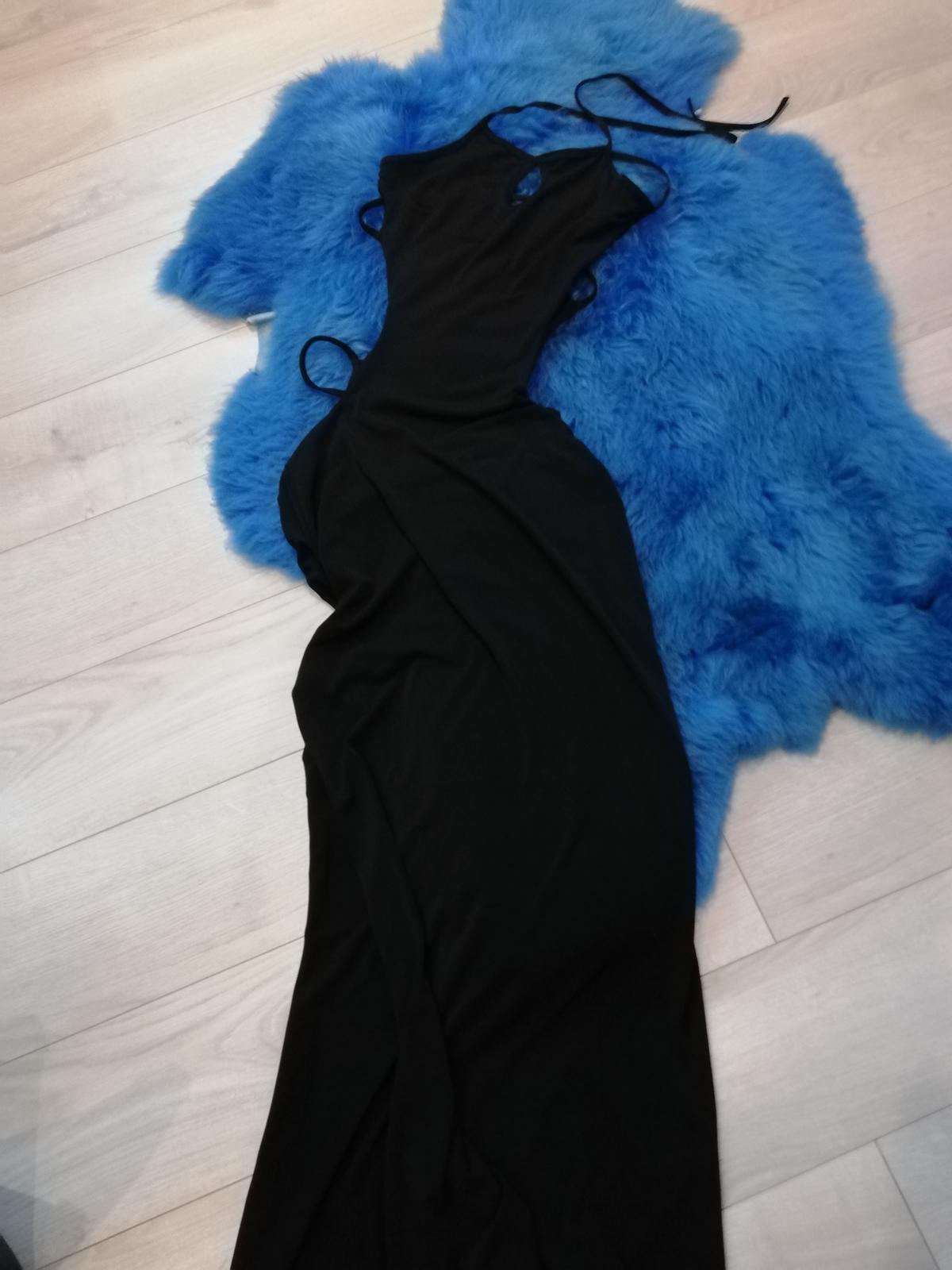 Čierne dlhé šaty  - Obrázok č. 2