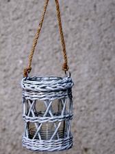 Lampášik na čajovú sviečku (vo vnútri 7 dcl zaváracia fľaša)