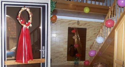 A také den předem jsem si vyhrála s výzdobou dveří a s balónkovým interiérem.