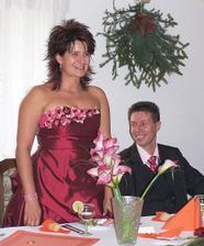 """Jak jinak než """"netradičně"""" jsem měla proslov já jako nevěsta... Veselá a uvolněná atmosféra od obřadu pokračovala i přes hostinu... ;o)"""