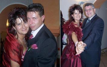 To já teda tancuju ráda! Tady zrovna se dvěma nejdůležitějšíma chlapama mýho života... 1. S manželem... 2. s tatínkem...