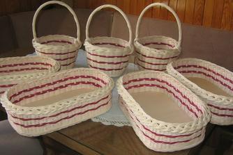 košíčky pro ružičky a ošatky na pečivo
