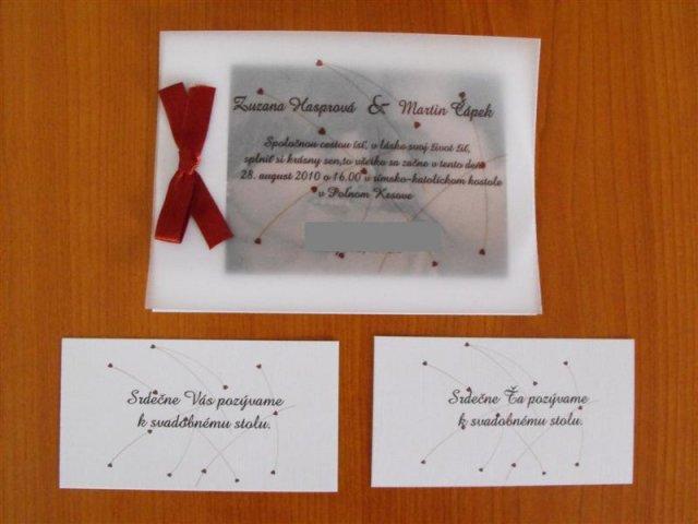 Zuzka & Maťko 28. 8. 2010 - už sa nám to kráti :) - Naše krásne oznamko, *NEKOPÍROVAŤ POPROSÍM!!!*