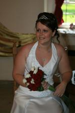 Nevěsta po obřadu