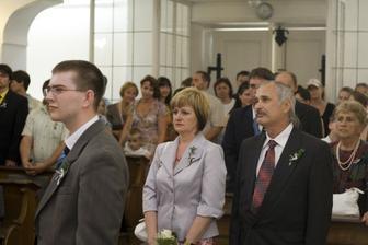Rodiče a svědek ženicha