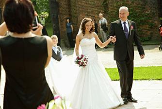 Nevěsta s tatínkem :-)