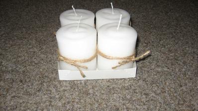 Nazdobené svíčky-v jednoduchosti je krása