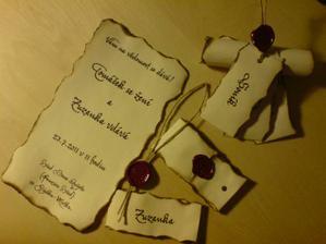 Svatební oznámení pergamen komplet