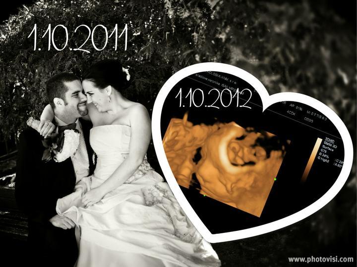 Veronika{{_AND_}}Michal - rok po svadbičke čakáme miminko,sme v 27.týždni :))