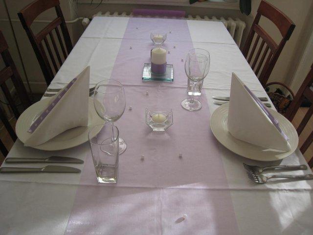 Přípravy - Stůl - 1 vrstva organzy