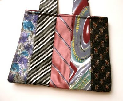 Vychytávky - taška z pánskych kravát