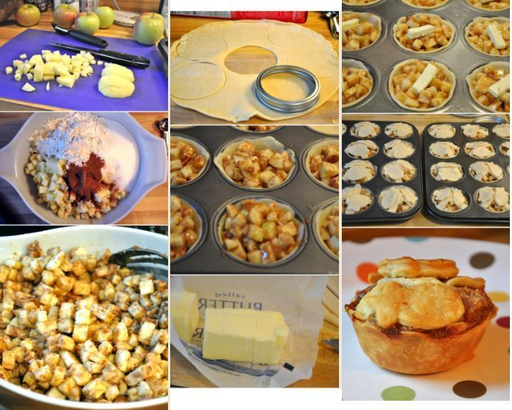Na tanieri - jablka, cesto (listkove, linecke), maslo, hlad.muka, škorica, cukor
