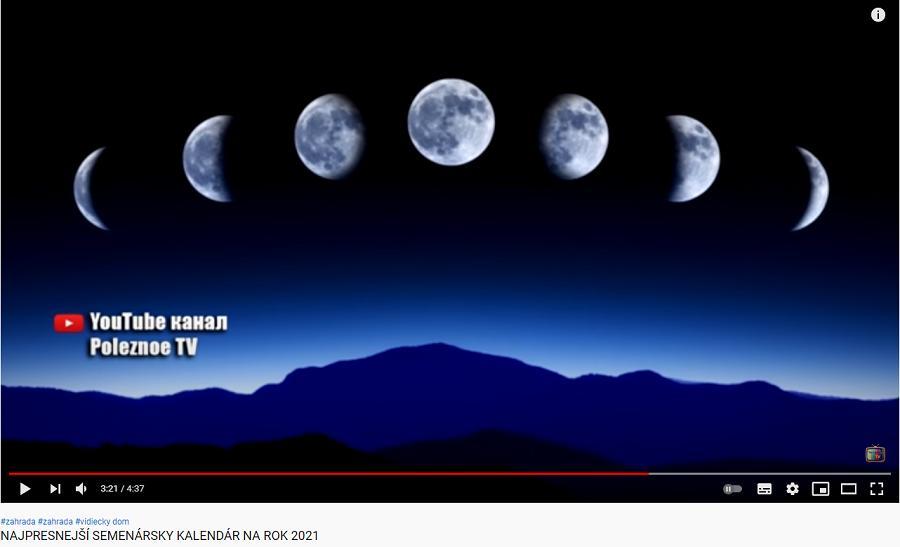 Výsadba 2021 - lunárny kalendár
