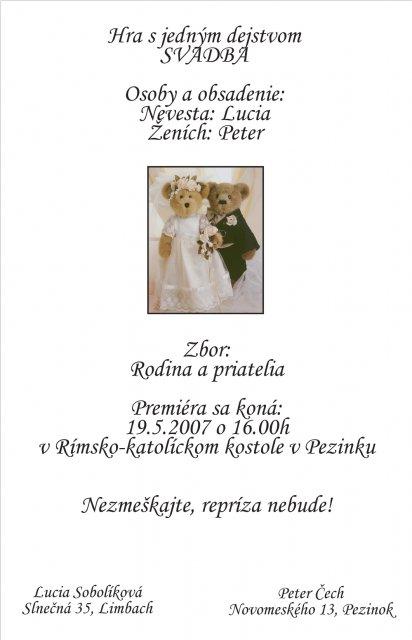 Lucia{{_AND_}}Peter - Oznámenie.