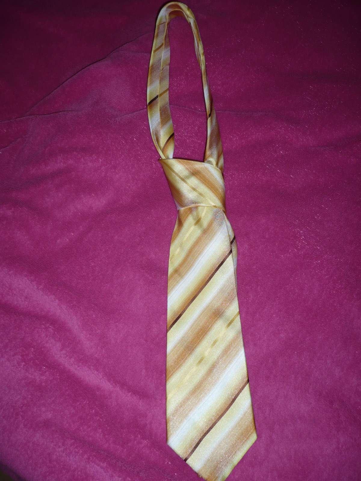 Satenova kravata zlta - Obrázok č. 1