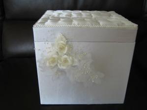 """svadobna krabica na blahozelania a obalky s """"tajomstvom"""""""