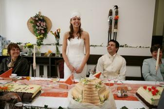 svatební dort - schody do nebe