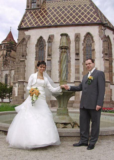 Katka{{_AND_}}Lubor Kalafusovi - pred fontanou kaplnky sv.Michala