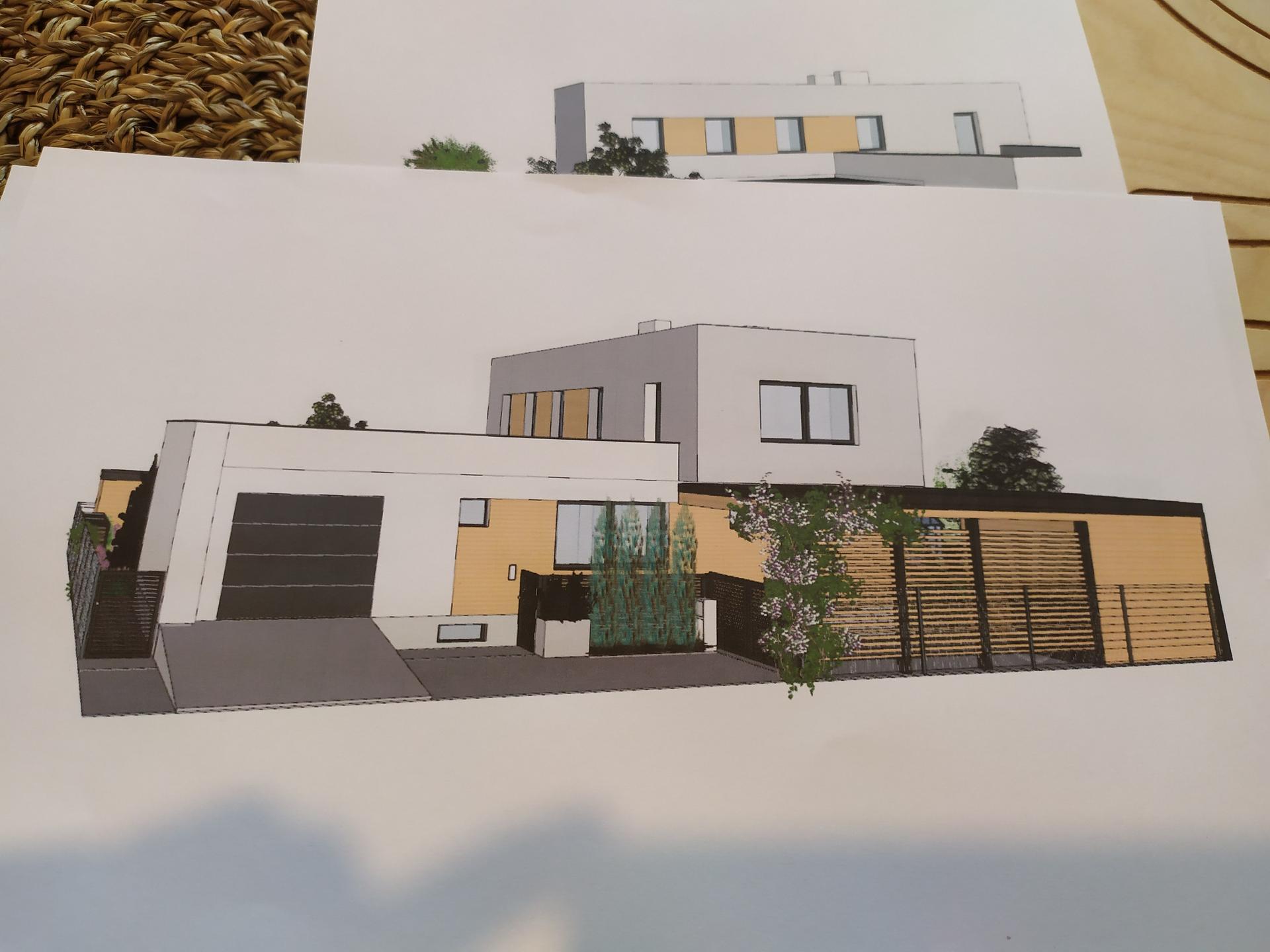 Riesime umiestnenie dreva na fasadu. co poviete? tu prednu cast nevieme rozhodnut - Obrázok č. 1