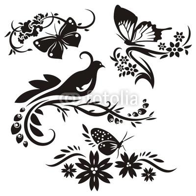 Ornamenty - ten motylik vpravo hore je krasny