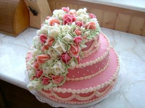 Túto tortičku som robila ja. Tiež niekomu na svadbu.