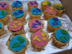 Muffinky na prvni skolkovy den :-)