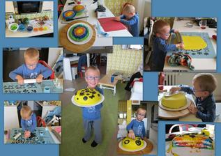 Matysek si udelal svuj vlastni dort, je moc sikovny :-) Jsem na nej pysna!!!