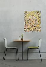 reprodukcia Pollock Trblietavé látky