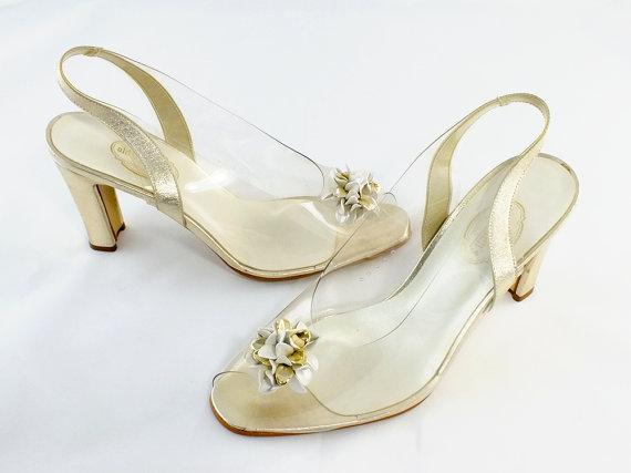 Svadobné topánočky od r.1900 - 1970 slonovina zlato koža