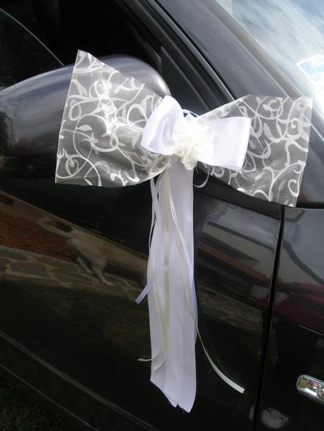 Svadobné AUTO - krémovo - biela