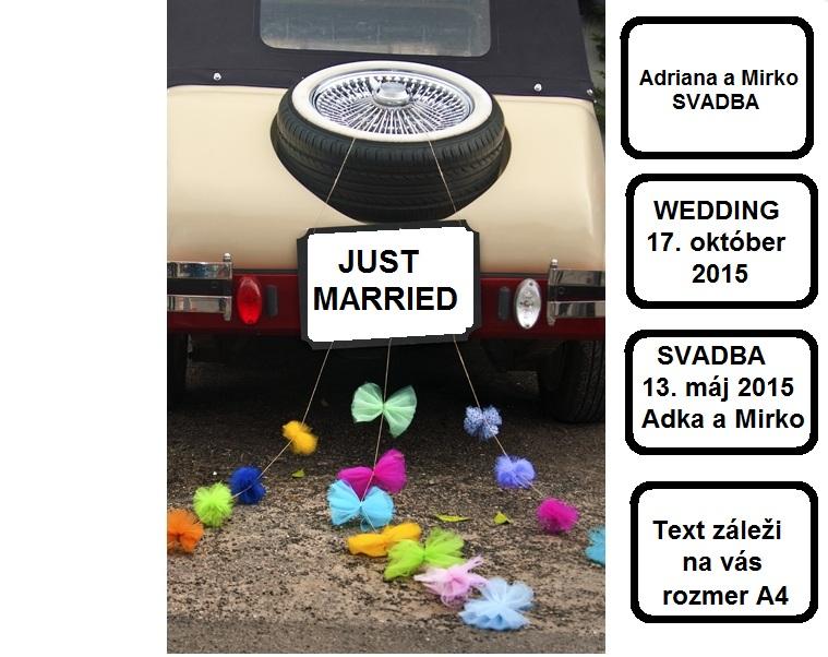Svadobné dekorácie - skladom - aj v inych farbach 9 eur