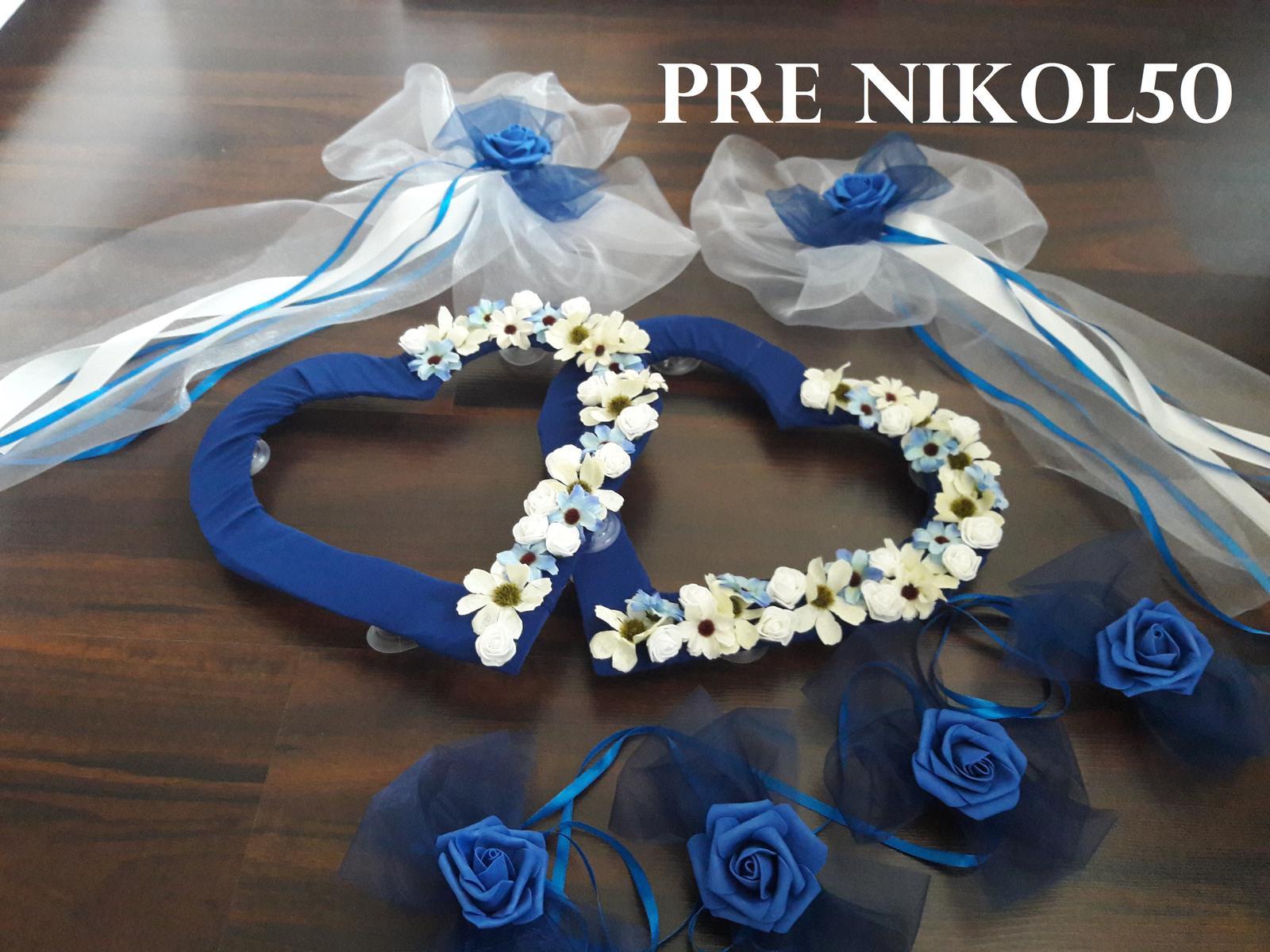 Svadobné AUTO - Sada 4 bez pásov pre Nikolku