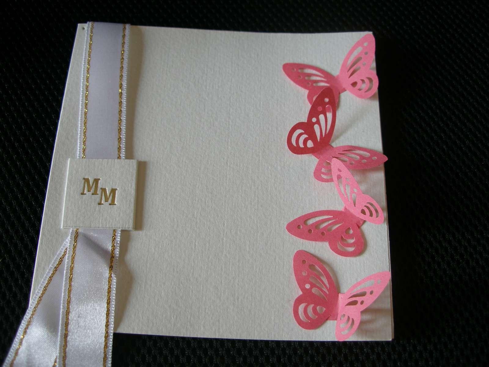 Papierové 3D motýliky (ružovo cyklamenova) 10 ks - Obrázok č. 1