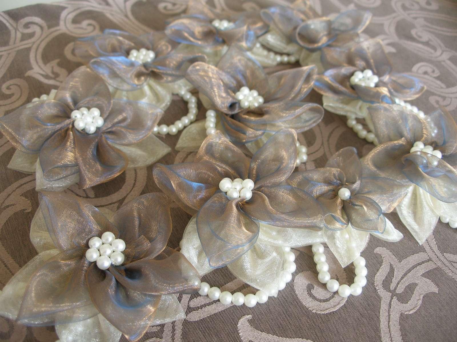 Náramok pre družičky - s perličkami - Obrázok č. 4