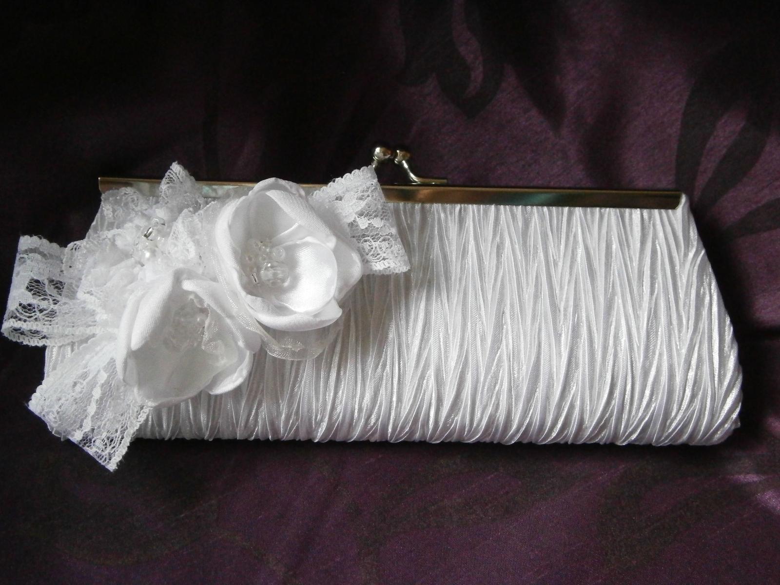 Svadobná kabelka do ruky - Obrázok č. 1