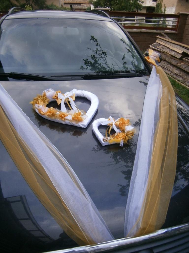 Výzdoba svadobného auta - veľké dvoj-srdce - Obrázok č. 1