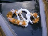 Veľké Srdce na svadobné auto,