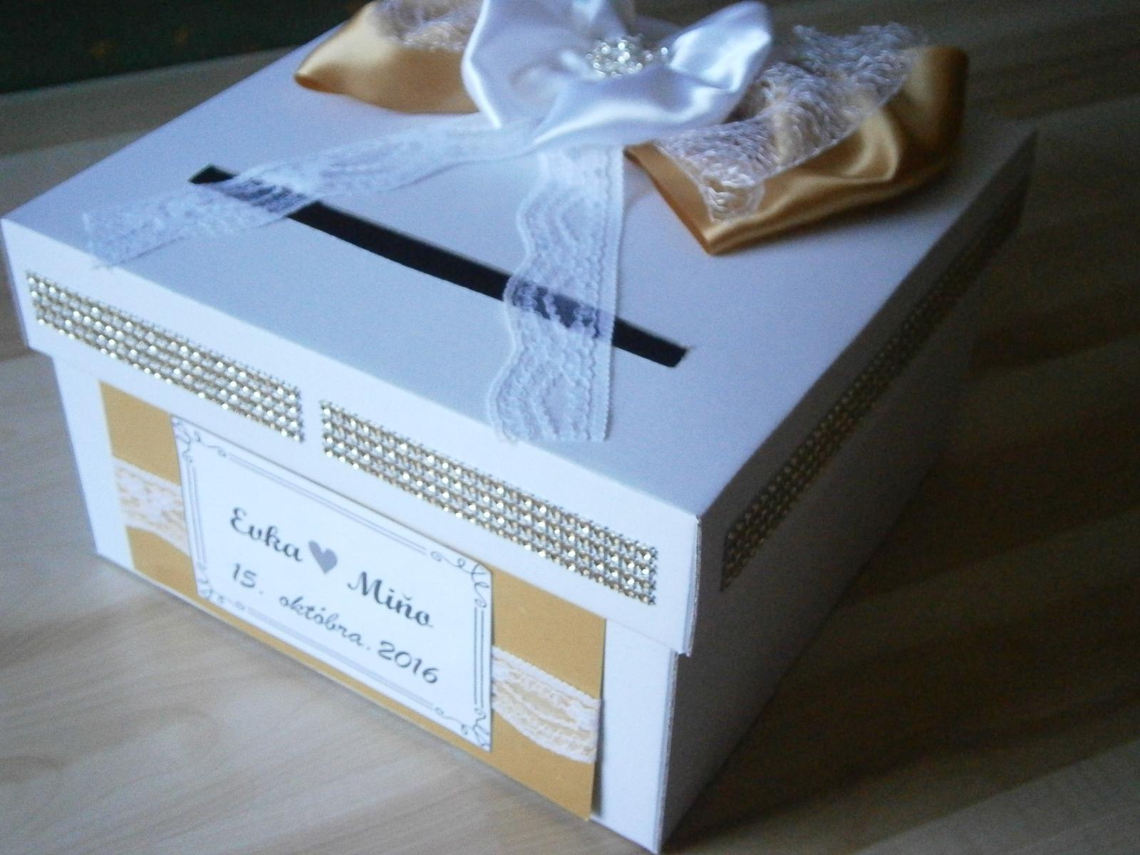 Wedding box - pokladnička na redový tanec - Obrázok č. 1