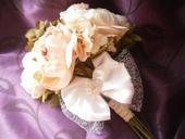 Svadobná kytica - látková v ružovej,