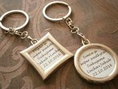 Prívesky / kľúčenka pre svadobčanov,