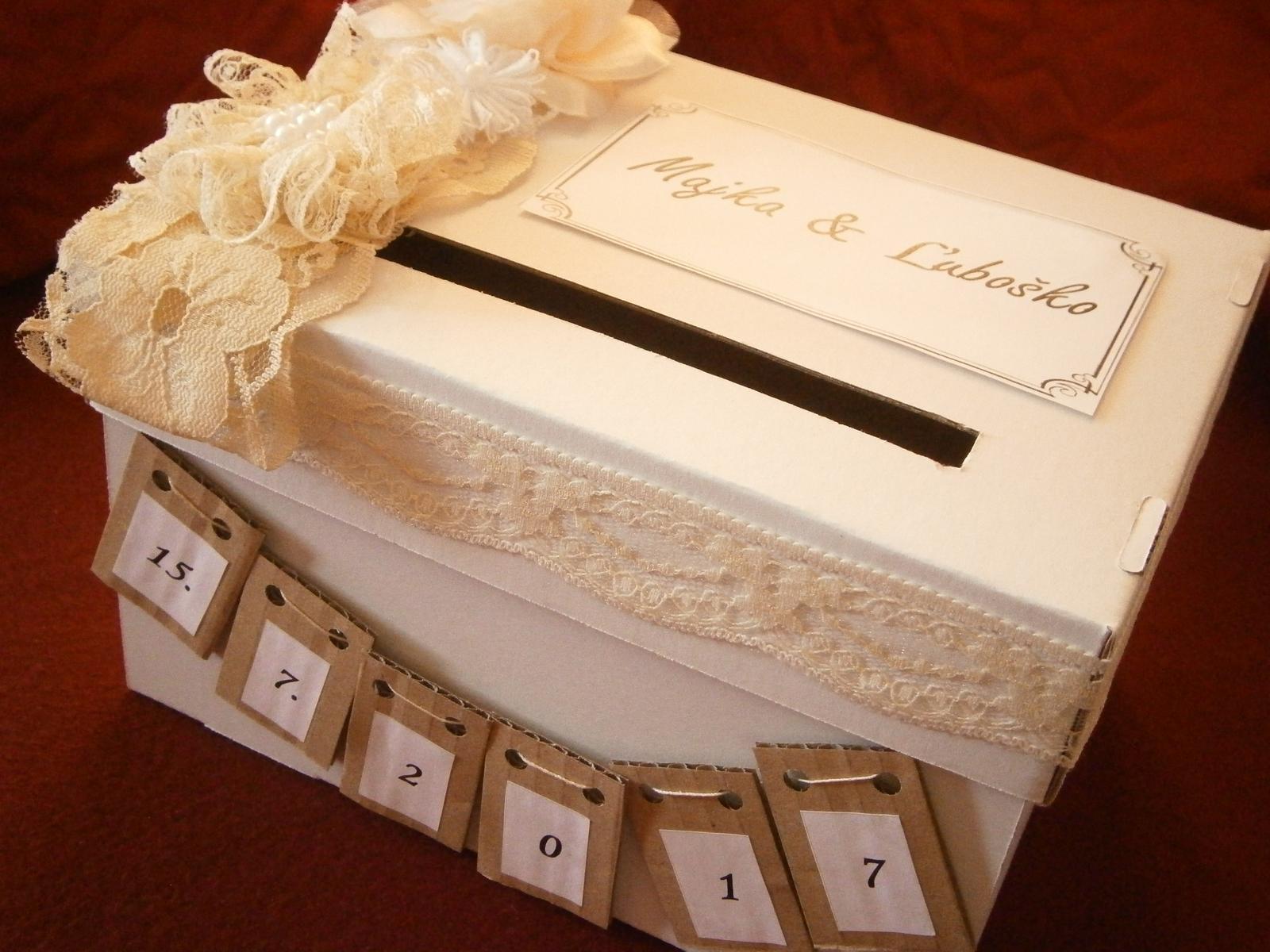 Wedding box / pokladnička  - Obrázok č. 4