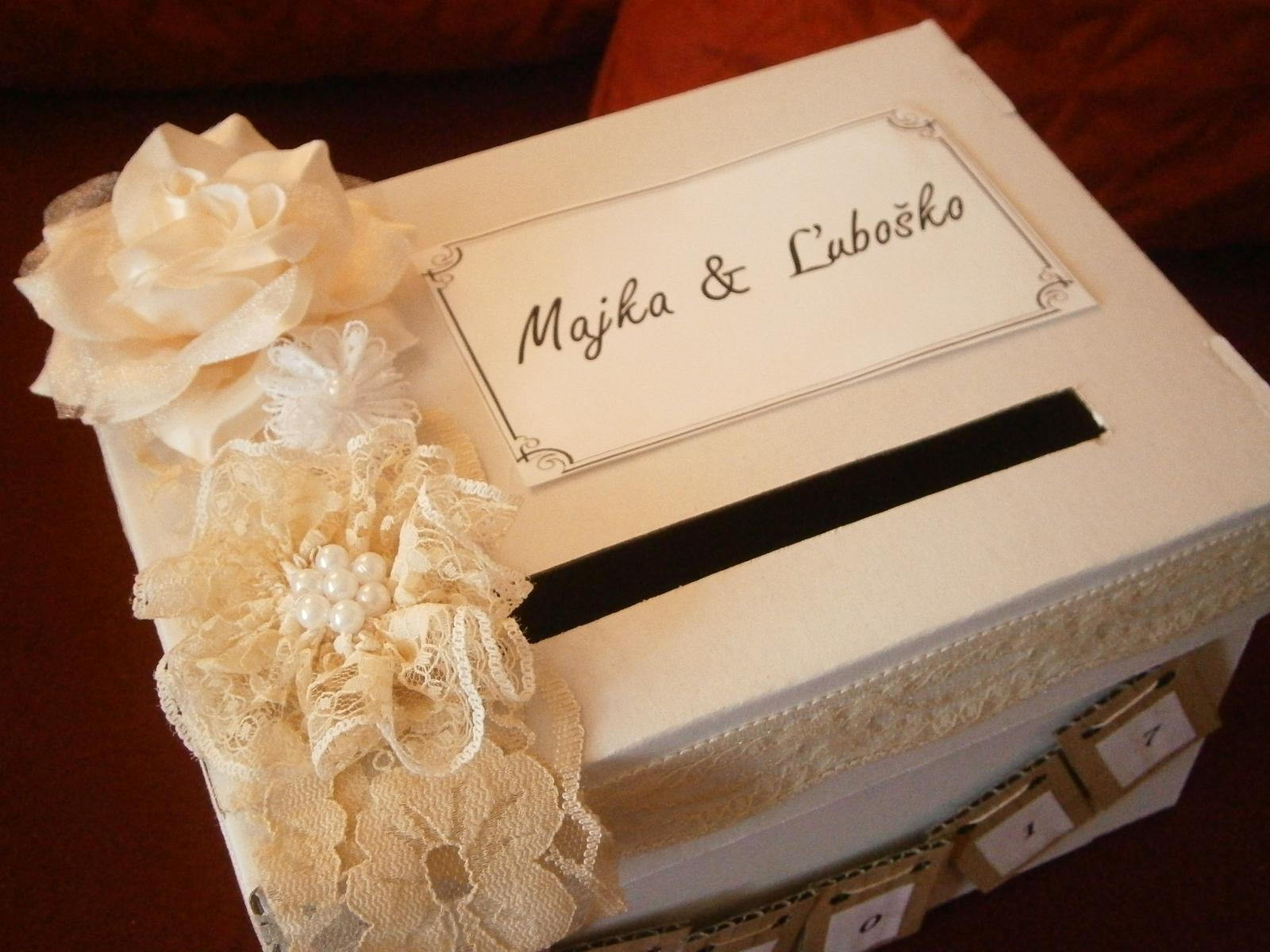 Wedding box / pokladnička  - Obrázok č. 2