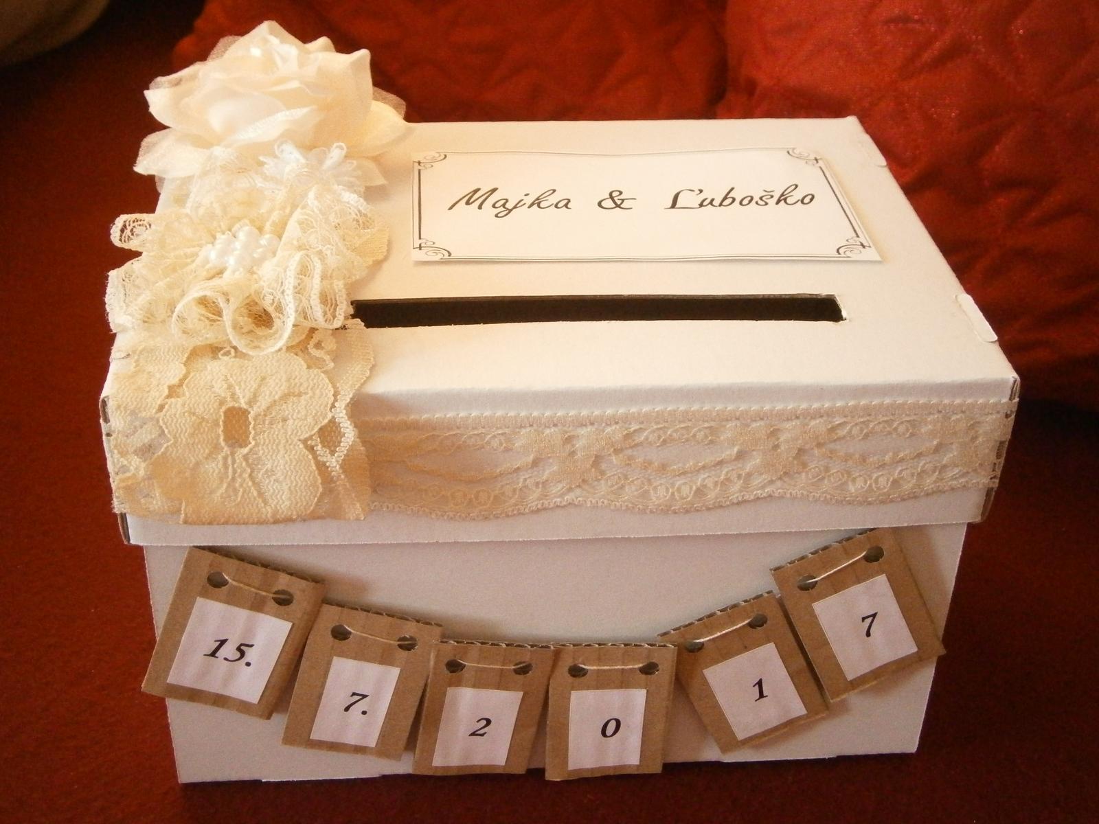 Wedding box / pokladnička  - Obrázok č. 3